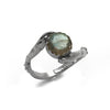 Hand Ring with Labradorite