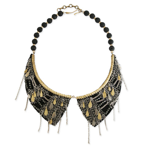 Mesh Fish Scale Collar Necklace