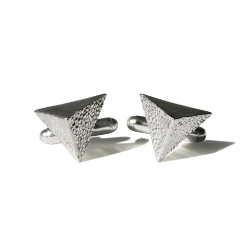 Melange Pyramid Cuff Links