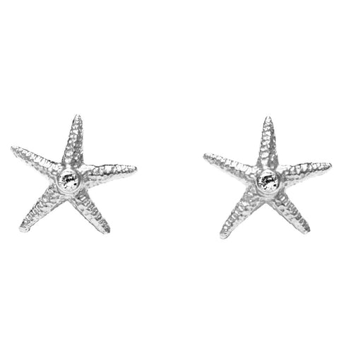 Silver Star Fish Earring