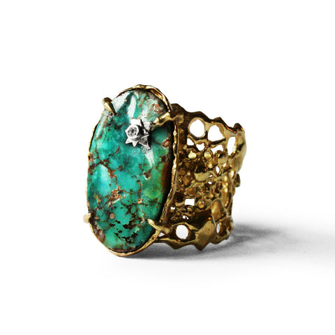 Cell Turquoise Ring