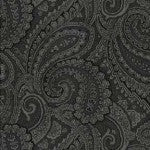 QUILT BACKING - Black Paisley
