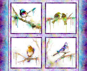 3 Wishes Color Splash Bird Panel Multi