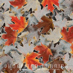 Hoffman Gorgeous Fall Leaves - rust - N7537