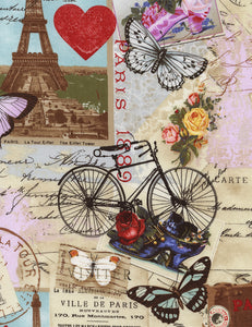 APRIL IN PARIS - C2299- ANTIQUE - by Timeless Treasures