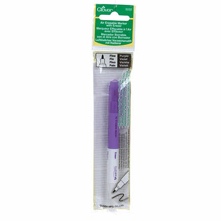 Marker With Eraser Purple Air Erasable