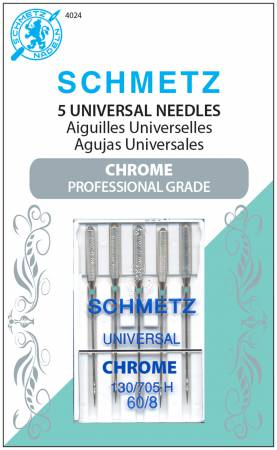 NEEDLES Chrome Universal Schmetz Needle 5 ct, Size 60/8 #4024