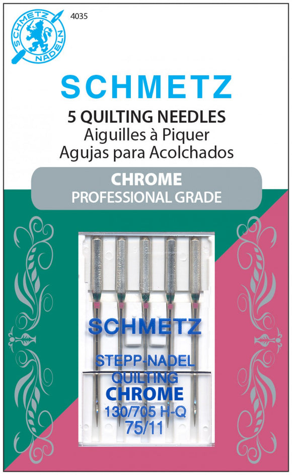 NEEDLES  Chrome Quilting Schmetz  5 ct, Size 75/11 #4035