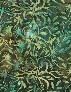 BATIK - TONGA-B5713-GARDEN GREEN BATIK Timeless Treasures