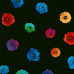 Fantasy - C5756 - Black - Spaced Flowers