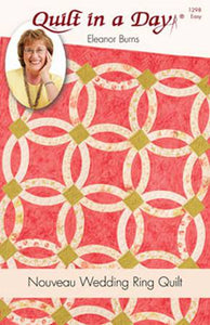 PATTERN Nouveau Wedding Ring Quilt # 1298QD