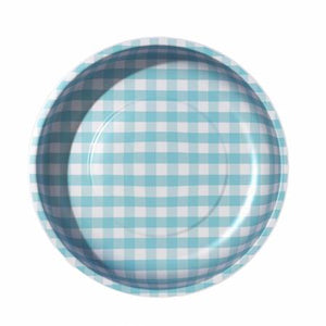 PIN CUSHION Sew Together Magnetic Pin Bowl Gingham Aqua #STMB-4990