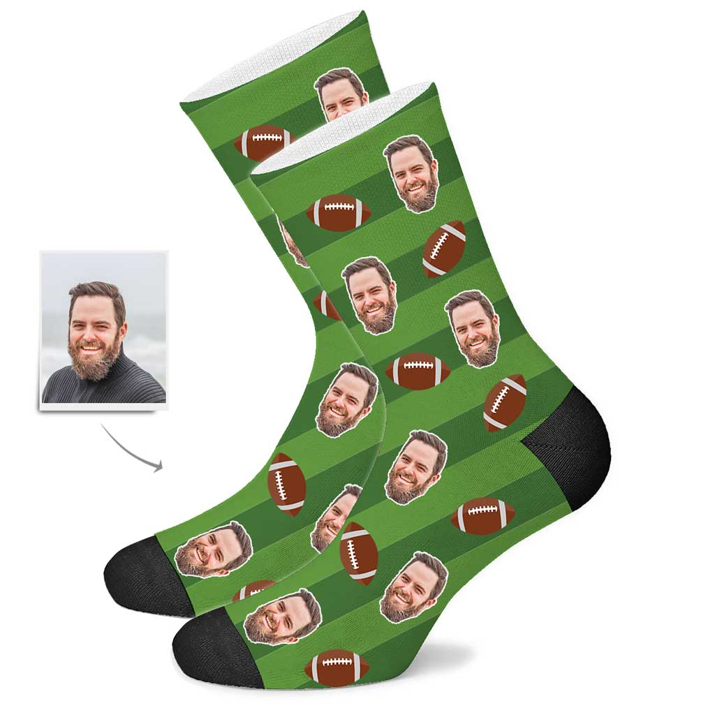 Custom American Football Face Socks