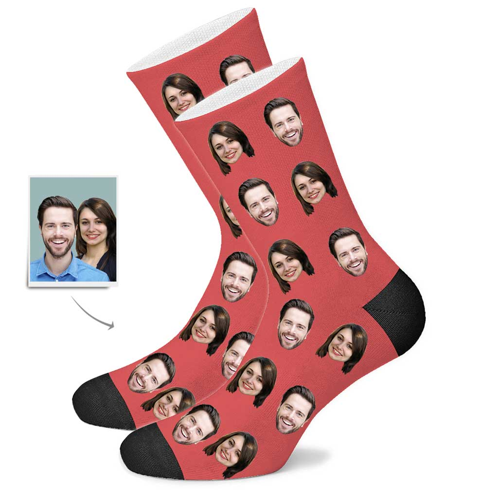 Custom Couple Face Socks
