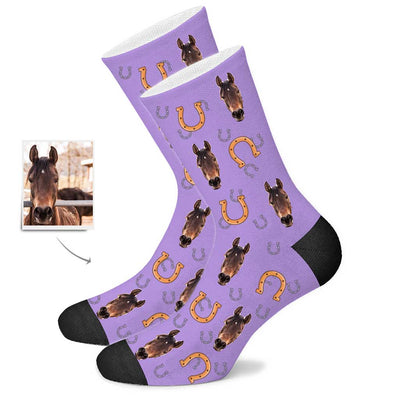 Custom Horse Face Socks