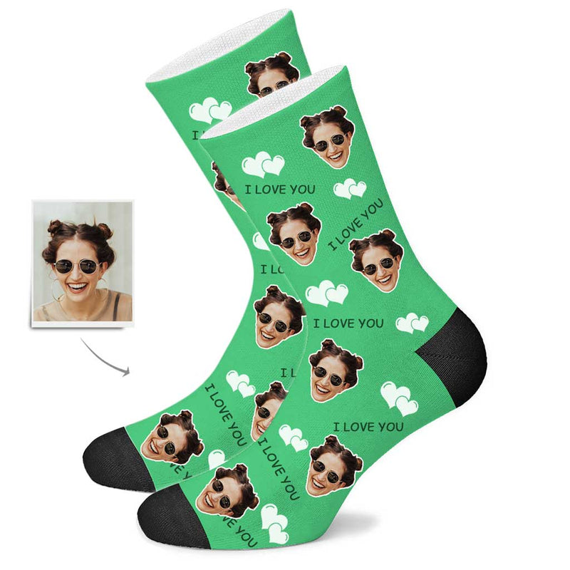Custom I Love U Socks