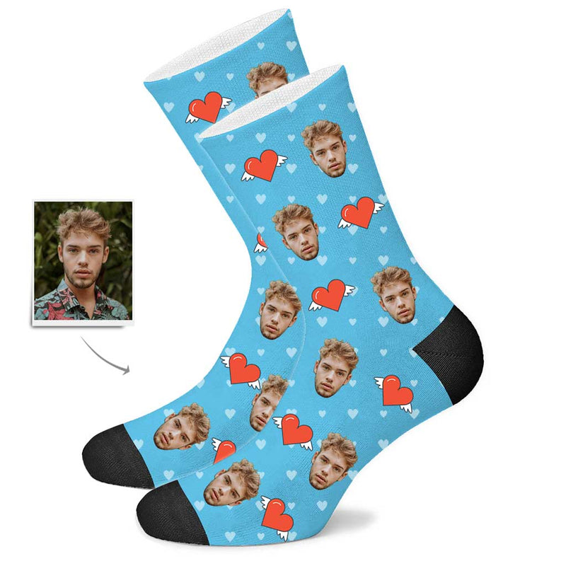 Custom Love Heart Socks