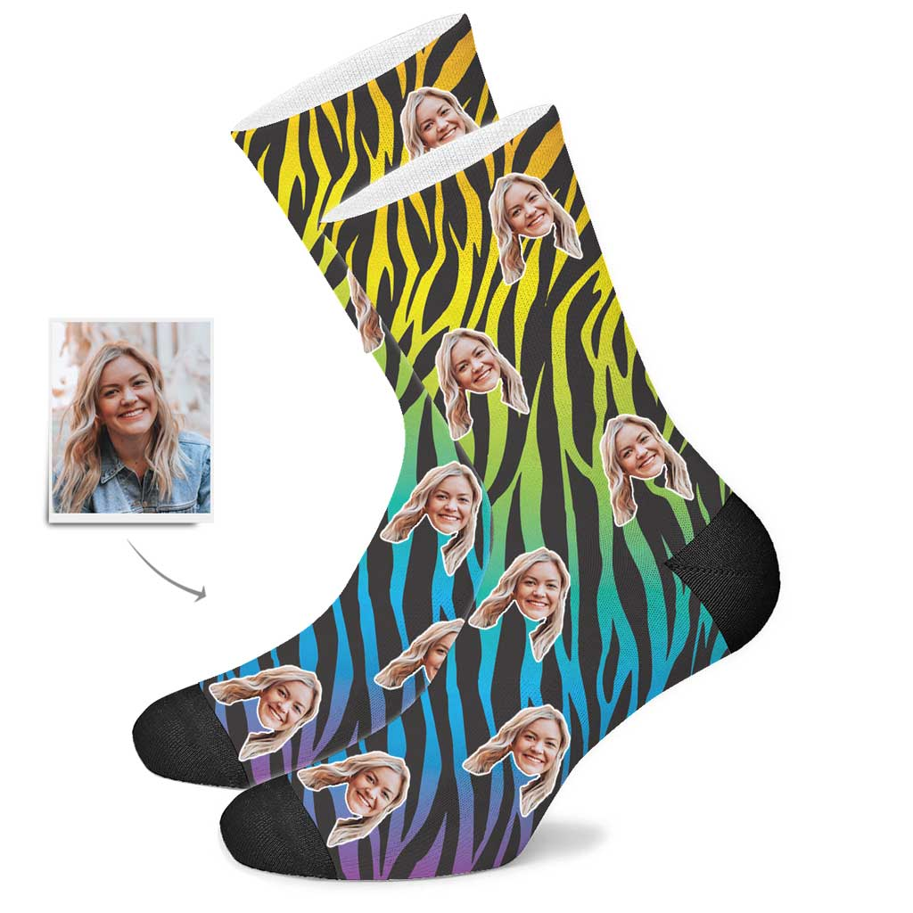 Custom Zebra Face Socks