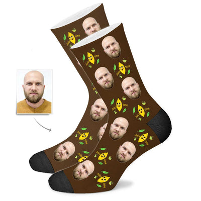 Custom Lemon Face Socks