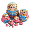 Pink and Blue Babushka Dolls 10 Pieces