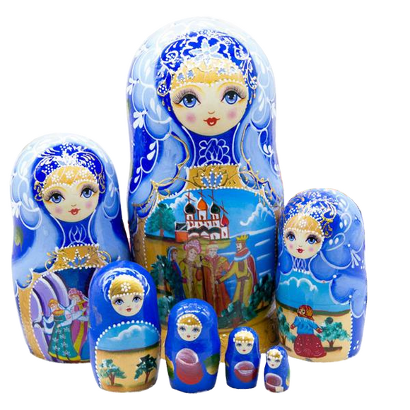 Wooden Large Matryoshka Nesting Dolls 7 Pieces