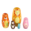 Adorable Animals Matryoshka Nesting Dolls 5 Pieces