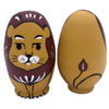 Wooden Lion Matryoshka Nesting Dolls 5 Pieces