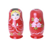 Red Cutie Girl Matryoshka Nesting Dolls 8 Pieces