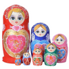 Large Colorful Matryoshka Nesting Dolls 7 Pieces