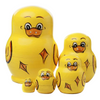 Yellow Ducklings Matryoshka Nesting Dolls 5 Pieces