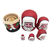 Adorable Santa Claus Matryoshka Nesting Dolls 5 Pieces
