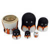 Adorable Penguins Matryoshka Nesting Dolls 5 Pieces