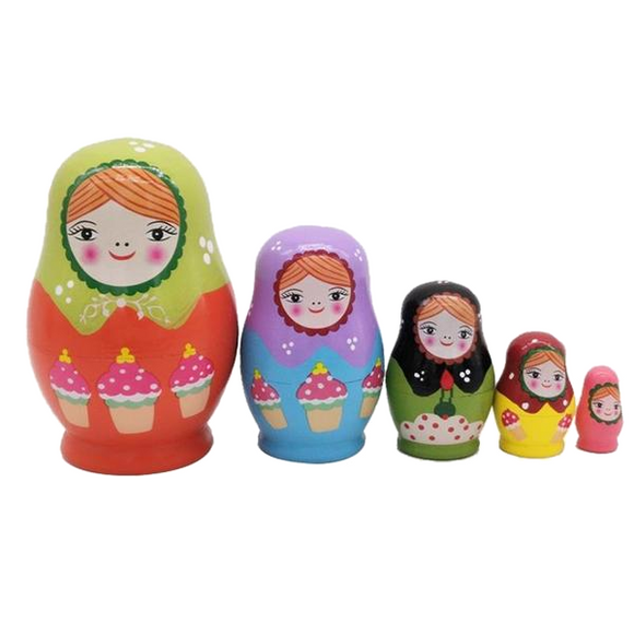 Happy Children Matryoshka Nesting Dolls 5 Pieces