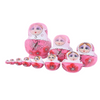 Pink Authentic Matryoshka Nesting Dolls 10 Pieces