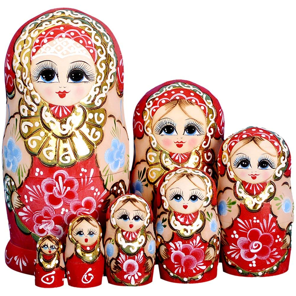 Wedding Matryoshka Nesting Dolls 7 Pieces