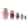 Pretty Girls Matryoshka Nesting Dolls 5 Pieces
