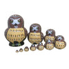 Brown Owl Matryoshka Nesting Dolls 10 Pieces