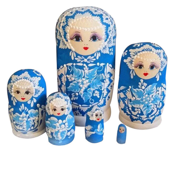 Multi Colored Russian Matryoshka Nesting Dolls 6 Pieces