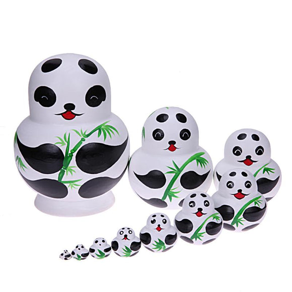 A Bamboo of Pandas Matryoshka Nesting Dolls 10 Pieces
