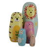 Jungle Animals Matryoshka Nesting Dolls 5 Pieces