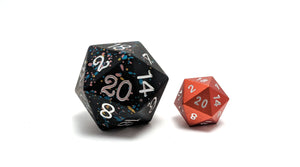 Allsort 35mm Solid Core D20 Aluminium Dice