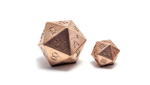 Copper 35mm Solid Core D20 Dice