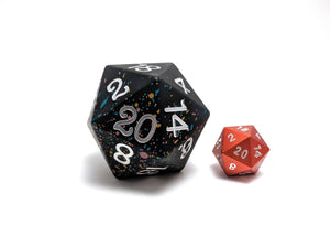 Allsort 45mm Solid Core D20 Aluminium Dice