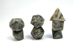Raised African Jade Semi Precious Stone Dice Set