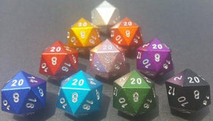 Light Blue D20 Aluminium
