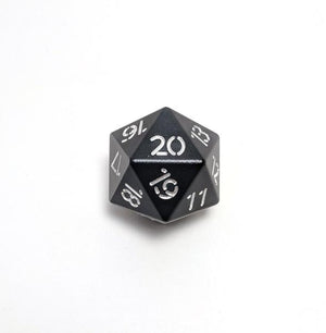 Black Spindown Aluminium Dice