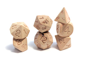 Chinese Boxwood Wood Dice Set
