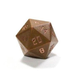 Copper Spindown D20 Metal Dice