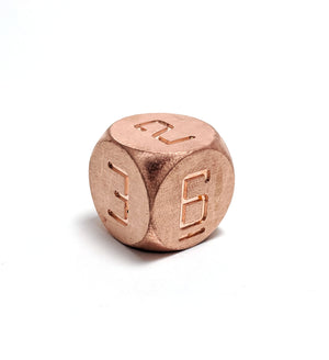 Copper D6 Metal Dice
