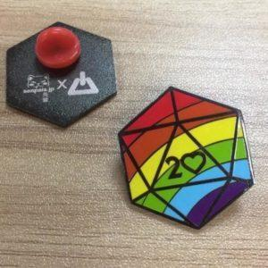 Critical Rainbow Pin